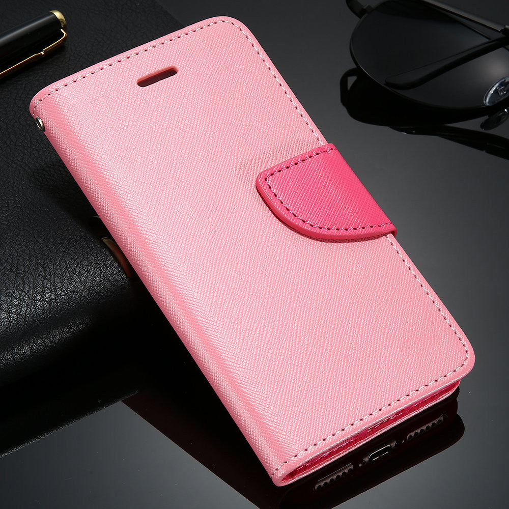 KISSCASE Case For iPhone 6 6S 7 Plus Cover Wallet Stand Flip Leather
