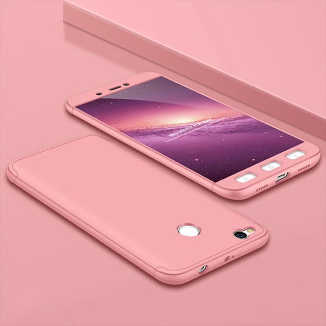FLOVEME Cases For Xiaomi Redmi 4X Note 4 4X Luxury 3 in 1 360 Fitted