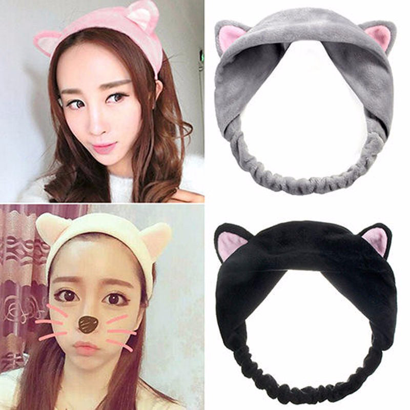 1Pcs Spa Bath Shower Make Up Wash Bathing Hair Band Cosmetic