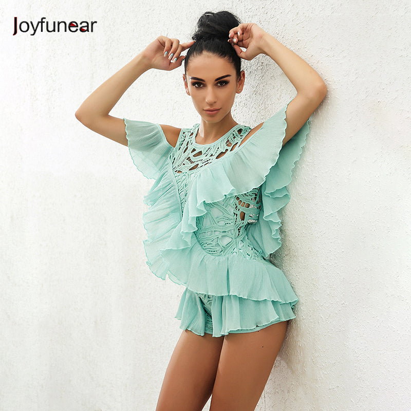 Joyfunear New Sexy Bodysuit Women Jumpsuit Sexy Backless Rompers