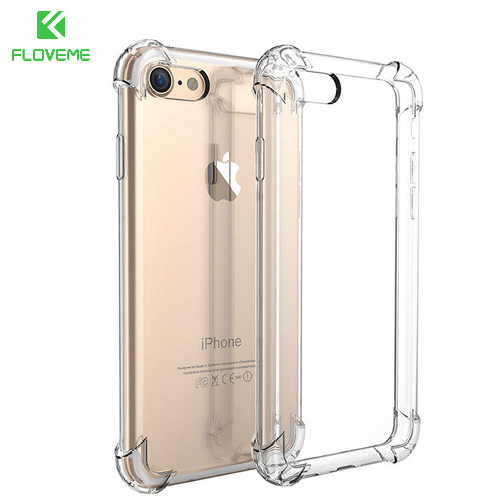 FLOVEME For iPhone 7 Plus Case Luxury Shockproof Armor Cases For