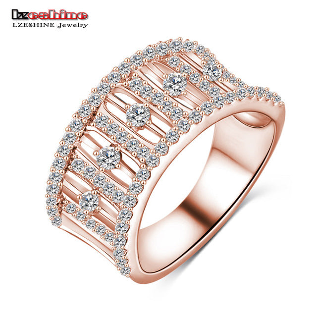 LZESHINE 2017 Hot Sale Rings Christmas Gift Gold / Silver Color