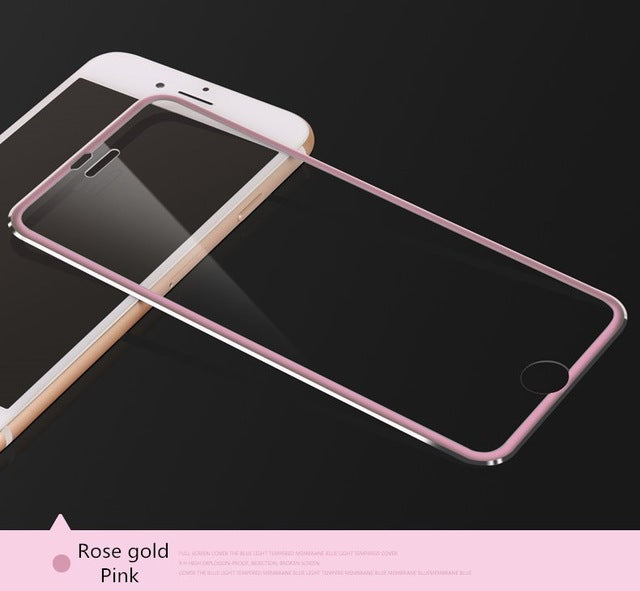 Aluminum alloy Tempered glass bag case For Apple iphone 6 6S 5 7 8