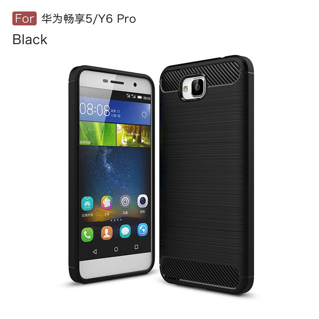 AKABEILA Phone Case For Huawei Honor 4C Pro Case Carbon Fiber Bag