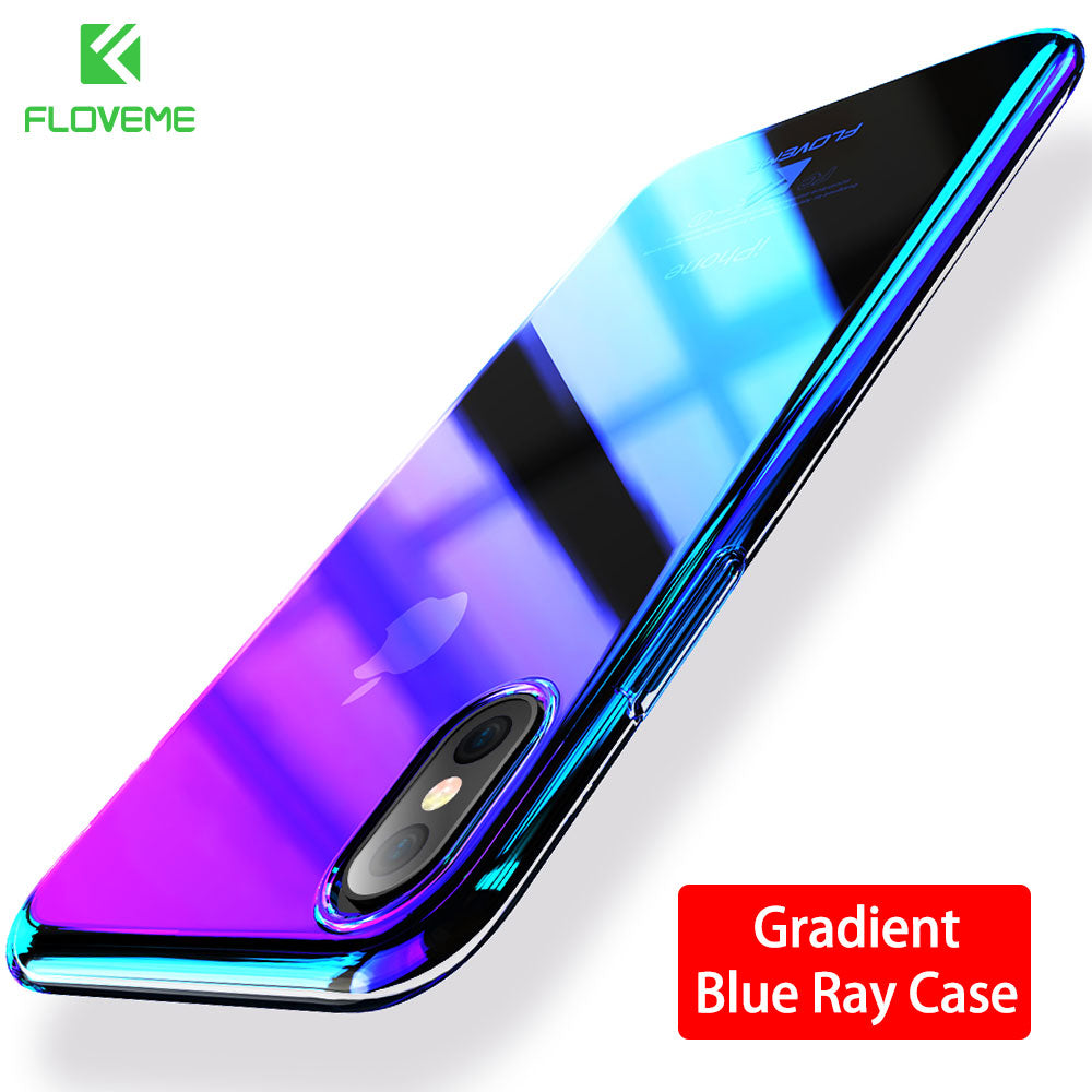 FLOVEME Changing Color Clear Case For iPhone X Case Mobile Phone