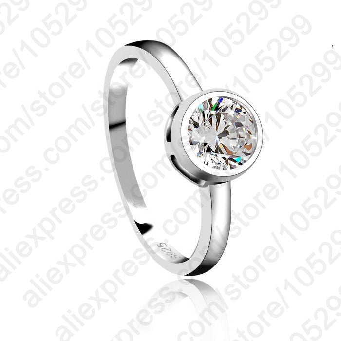 New 925 Sterling Silver Jewelry Charm Woman Wedding Stone High Quality