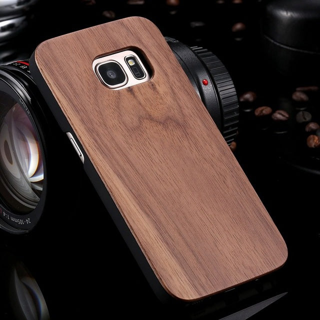 FLOVEME For Samsung Galaxy S8 Plus Real Wooden Case For Samsung S8