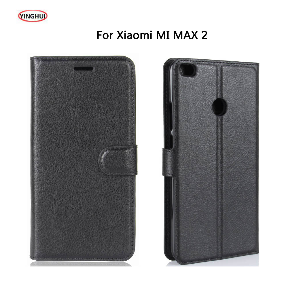 HUDOSSEN For Xiaomi MI MAX 2 Case Luxury Flip Leather Back Cover Phone