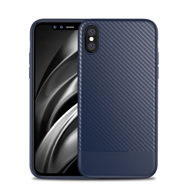 FLOVEME For iPhone X 10 Case 2017 Luxury , Business Carbon Fiber Cover