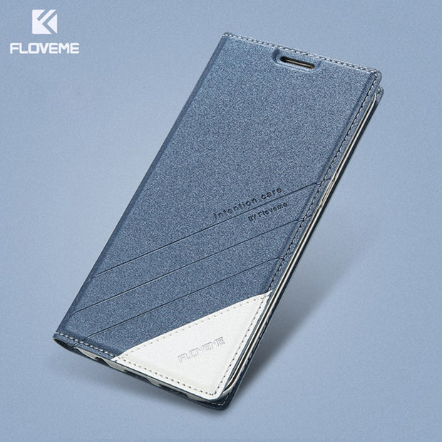 FLOVEME Magnetic Flip Leather Phone Case For Samsung Galaxy S8 S8 Plus