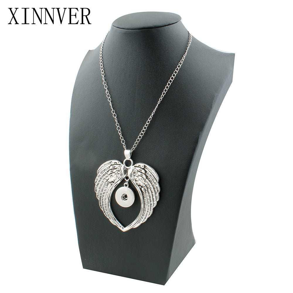 Xinnver Jewelry New Fashion Beauty Pendant Wings Snaps Necklace Fit