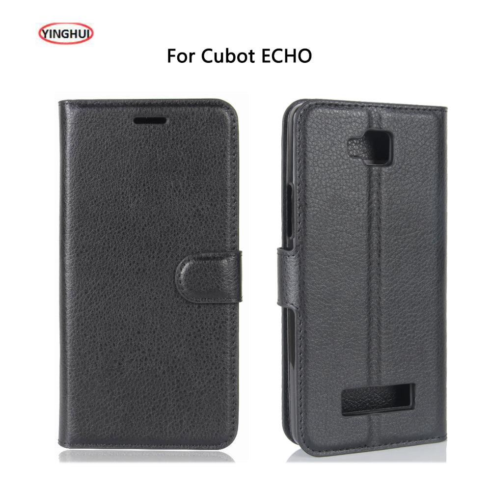 YINGHUI For Cubot ECHO Case Luxury Flip PU Leather Case Back Cover