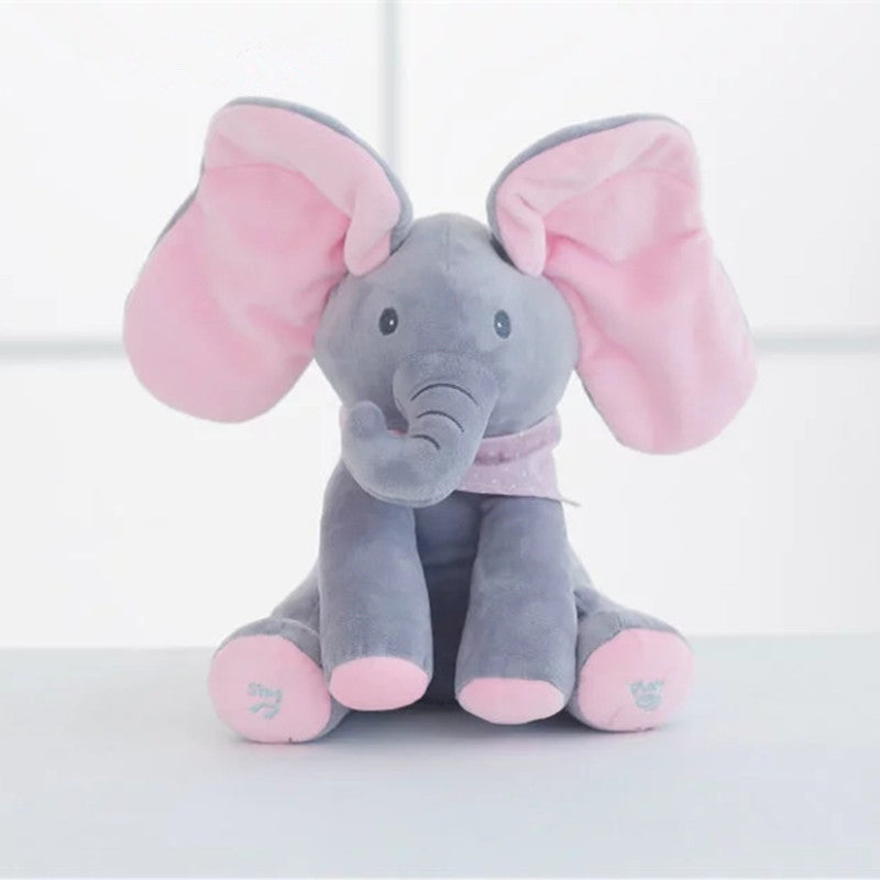New Style 30cm Singing Talking Flappy Elephant Electronic Cartoon Plush Toy Game Music Icon Doll Educational Toys Drop Shipping