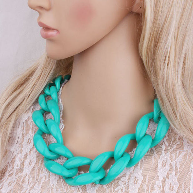 New Jewelry Statement necklace chain cord chunky choker necklace