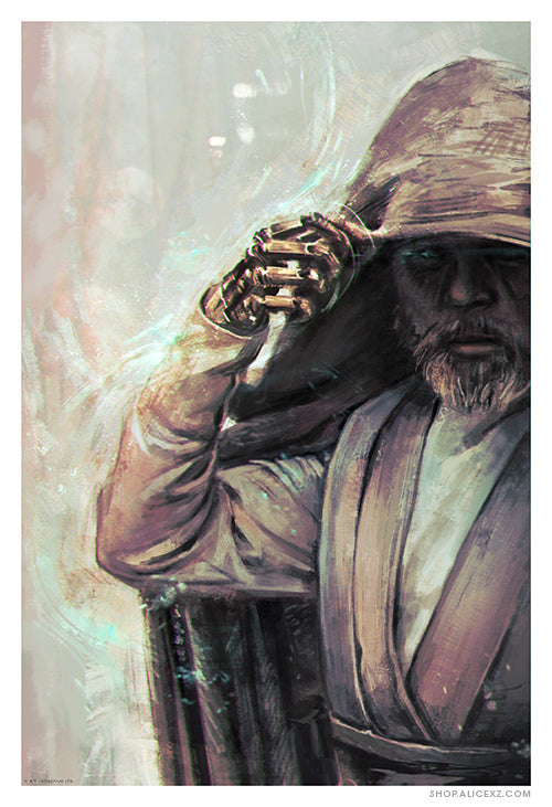 """Luke: The Jedi of Ahch-To"" Print (AP)"