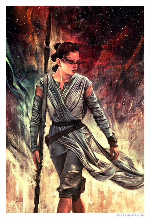 Star Wars Rey Art Print