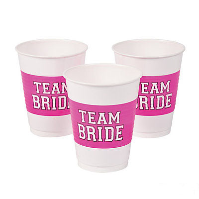 Vaso Desechable Team Bride