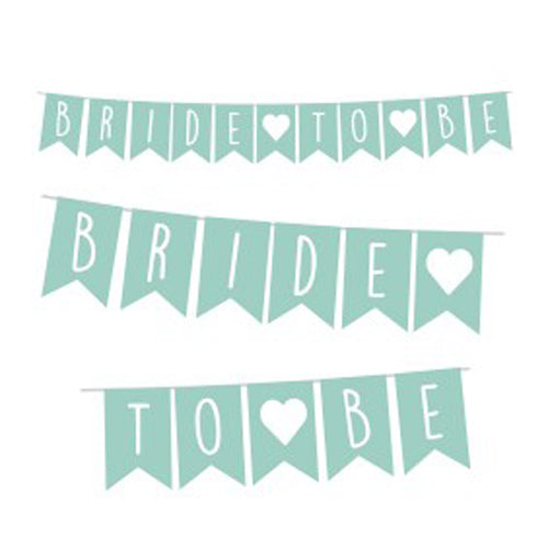 Banner Bride To Be Menta