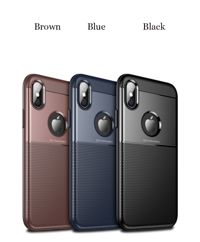 360 Full Luxury Soft TPU Silicone+Hard PC Back Cover Case For iPhone X