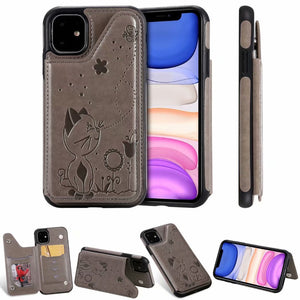 New Luxury 3D Printed Leather Wallet Cover Case For iPhone