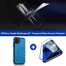 Load image into Gallery viewer, 2020 Luxury Leather Wallet Case For iPhone-With Free Tempered Glass