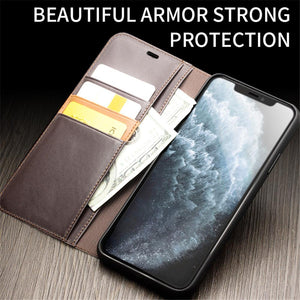 Luxury Genuine Leather Phone Case for iPhone
