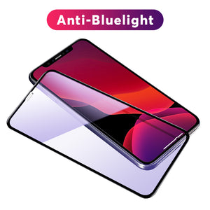 0.3mm Anti-blue light Full Coverage Tempered Glass Screen Protector  For iPhone