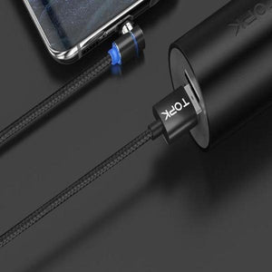 3 in 1 360° Magnetic Charging Cable for Huawei iPhone Samsung