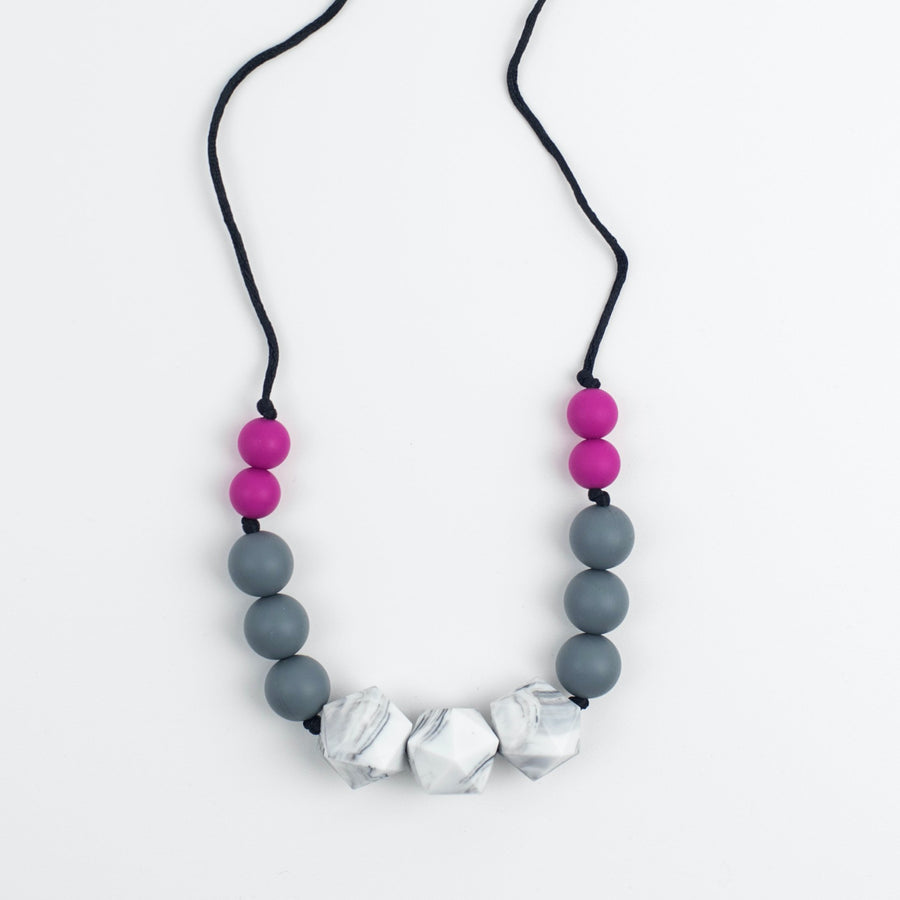 Jolie Pink Teething Necklace - Sebandroo