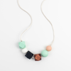 Asymmetircal Silicone Teething Necklace