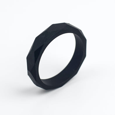 Black Silicone Teething Bangle