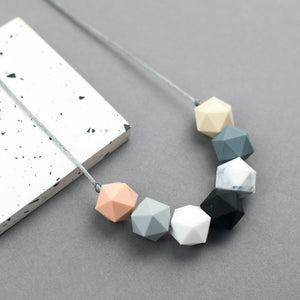 Modern Geometric Teething Necklace - Sebandroo