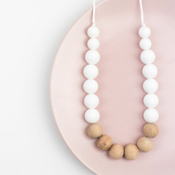 Wood and Silicone Teething Necklace