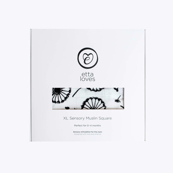 Boxed XL Sensory Muslin Square by Etta Loves