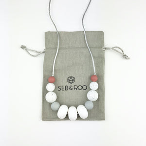 Sebandroo - Snow Teething Necklace