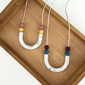 Marble U Shaped Teething Necklace