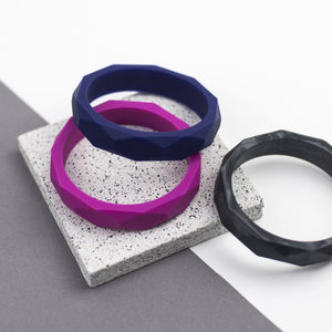 Seb&Roo - Teething Bangle - Metallic Black