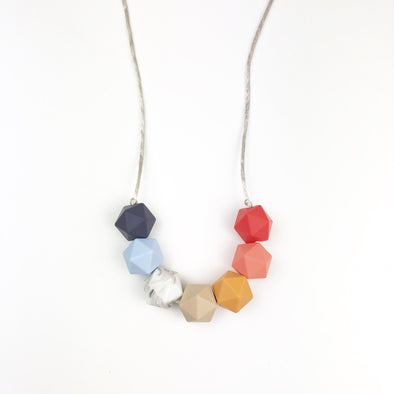 Autumn Rainbow Teething Necklace