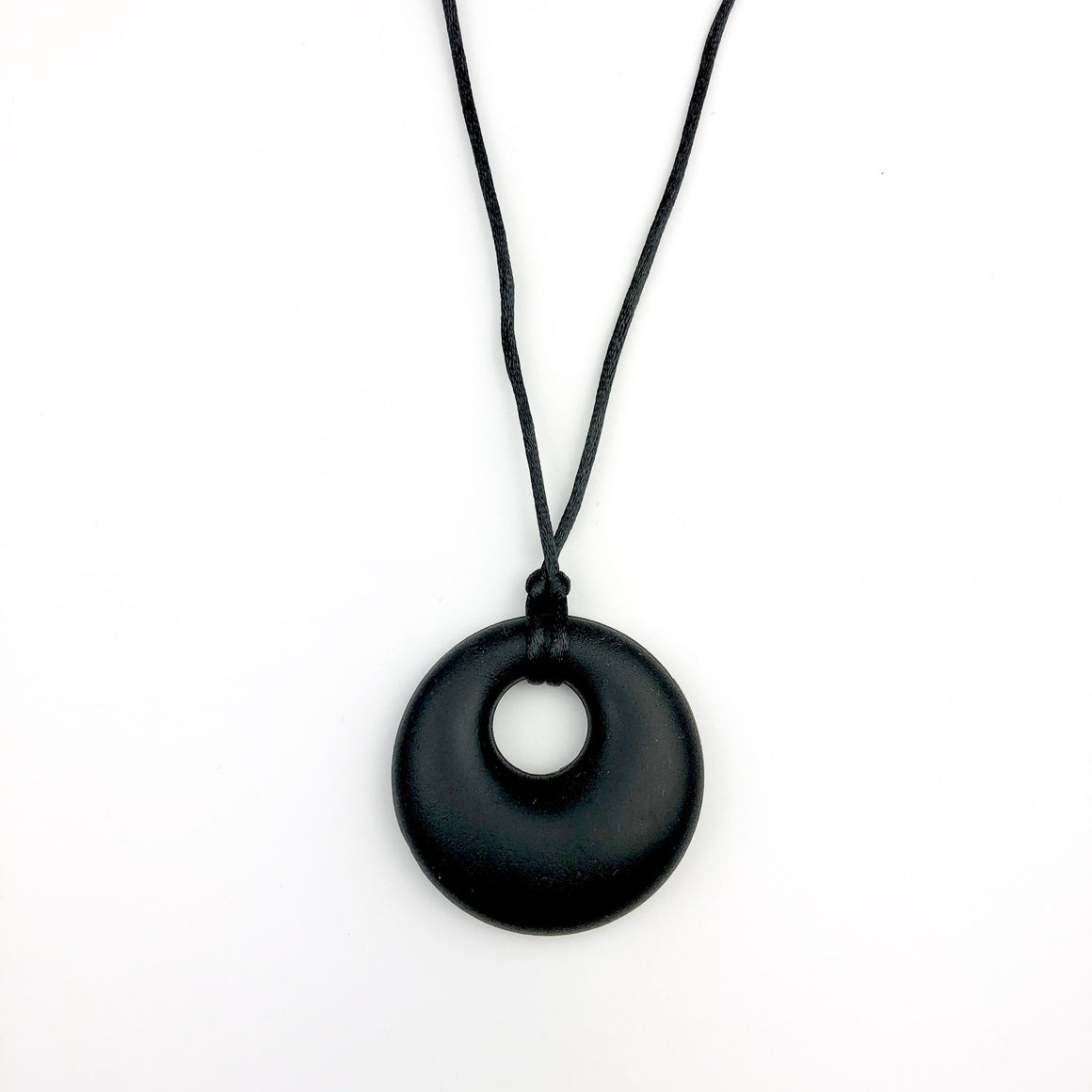 Black Pendant Teething Necklace - Sebandroo