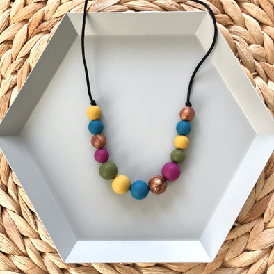 Children's Melbourne Necklace in Jewel Tones by Sebandroo