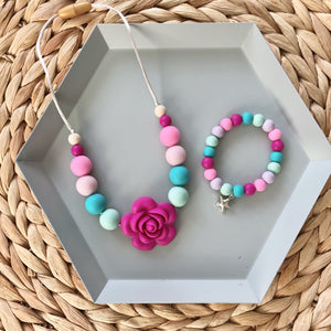 Children's Necklace and Charm Bracelet Set