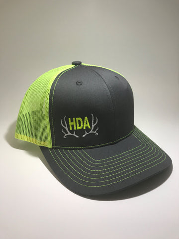 HDA Snap Back Hat Gray & Green