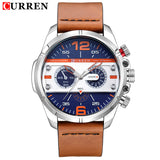 Curren Men's Sports Quartz Watches Waterproof Wristwatches Relogio Masculino