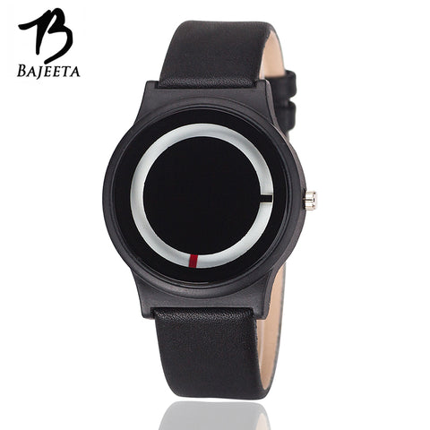 BAJEETA Hot Sale Simple Style Women Watch Lovers New Fashion Quartz Leather Men Watch Student Analog Wristwatch Relogio Feminino