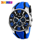 SKMEI New Six Pin Men Quartz Analog Sport Watch Fashion Casual Stop Watch Date Waterproof Men's Watches Relogio Masculino