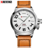 CURREN Casual Mens Watches Top Brand Luxury Men's Quartz Watch Waterproof Sport Military Watches Men Leather Relogio Masculino