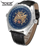 Jaragar Automatic Watches Men Blue Glasses Dial Watch Luxury Brand Man Wristwatch Skeleton Mechanical Watch Male Clock