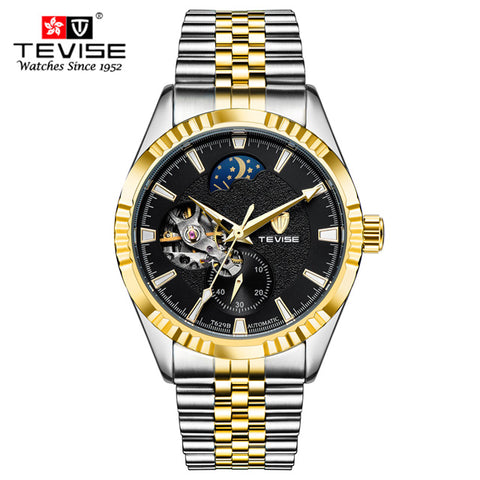 TEVISE Tourbillon Watches Mens Automatic Watch Men Luxury Brand Famous Stainless Steel Mechanical Watch clock Relogio masculino