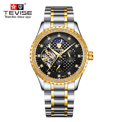 Fashion Men's Watches Moon Phase Tourbillon Watches Men automatic mechanical watch Waterproof Wristwatches Male Table Relojes