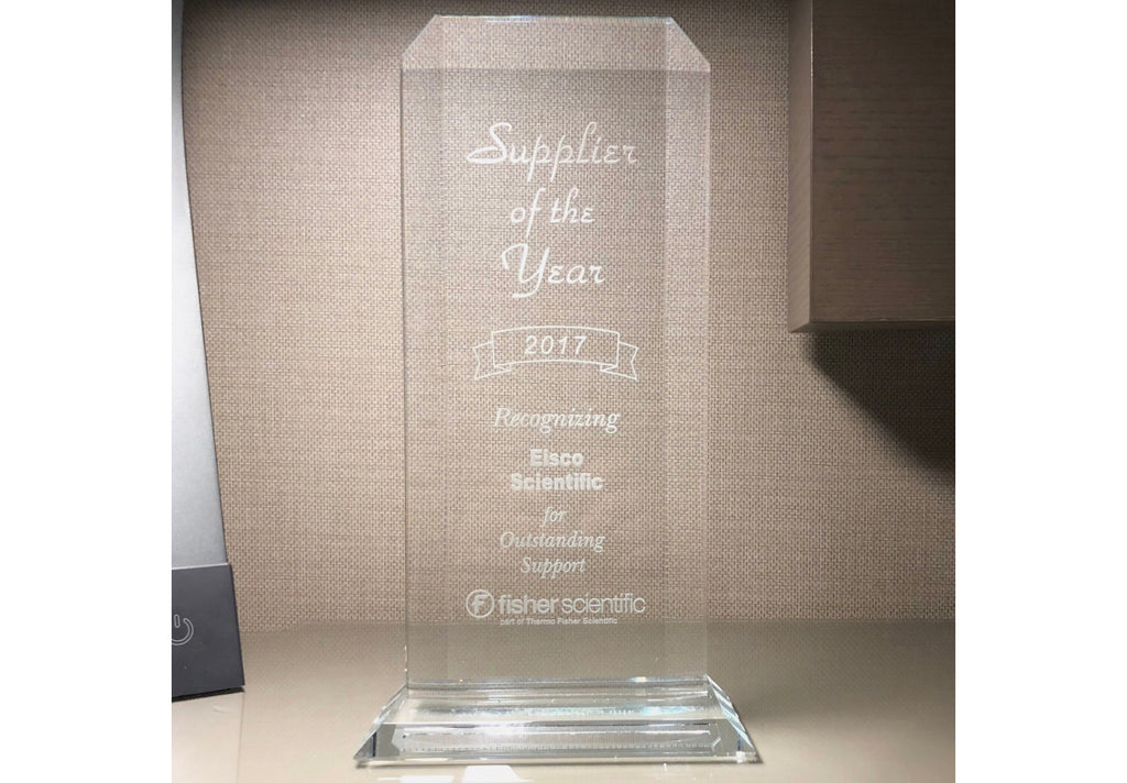 Eisco Scientific Awarded 2017 Supplier of the Year by Thermo Fisher Scientific